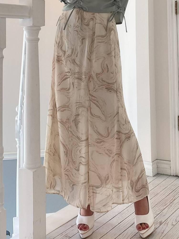 マーブルパターンマーメイドスカート